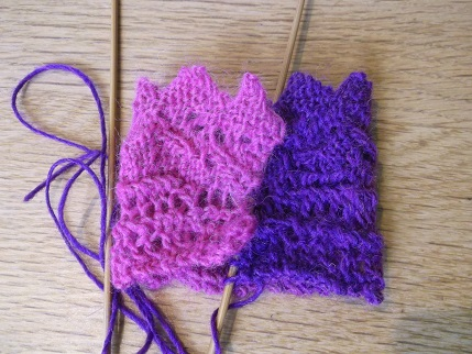 Knitting April 2015 - cuff joined