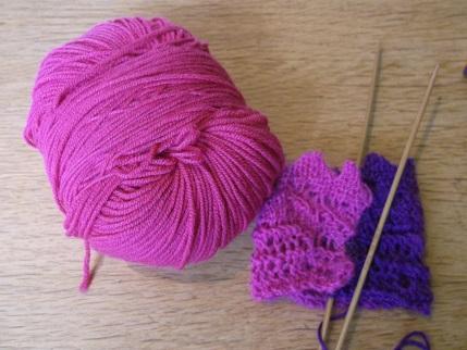 Knitting April 2015 - Debbie Bliss wool