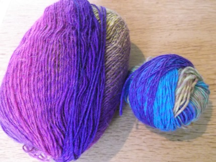 Knitting April 2015 - variegated wool