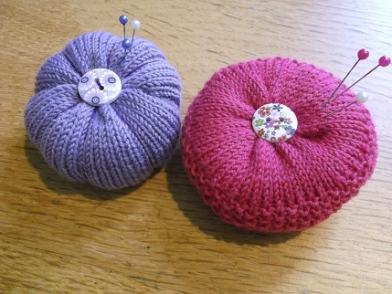 knitted pincushions May
