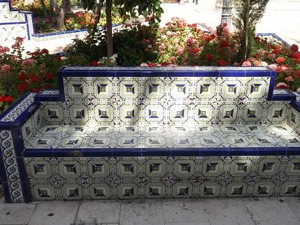 Spain July 2015 Elche bench tiles