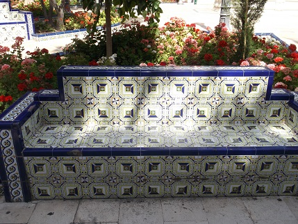 Spain July 2015 Elche bench tiles