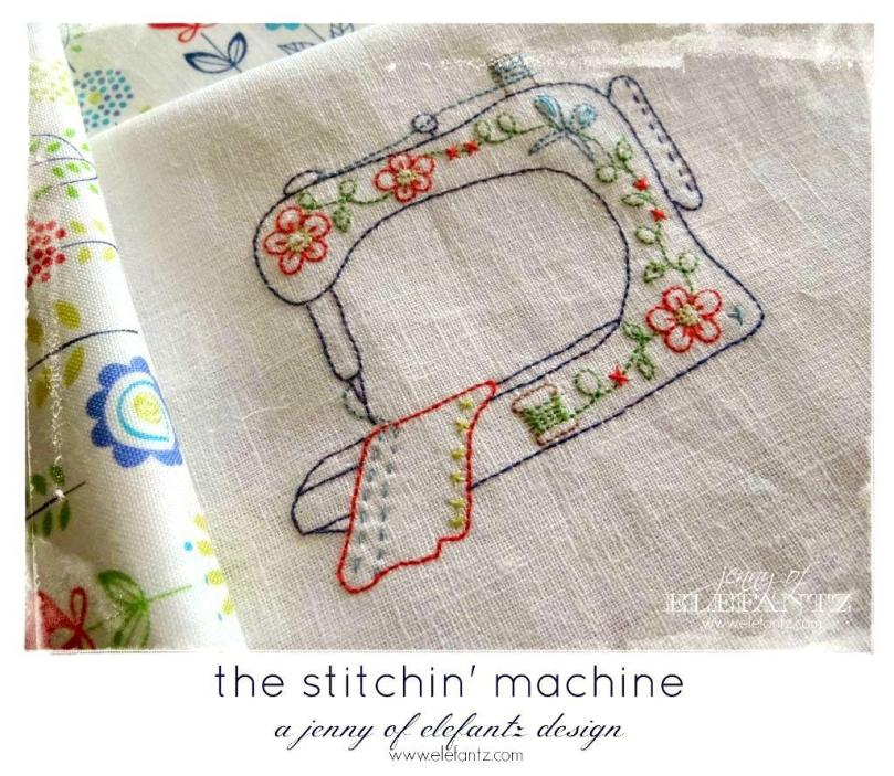 Elefantz The Stitchin Machine stitchery