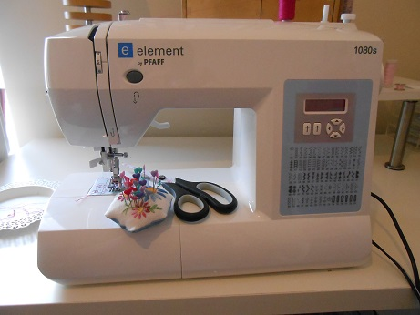 new sewing room - machine in room