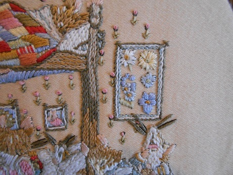new sewing room - mouse embroidery detail