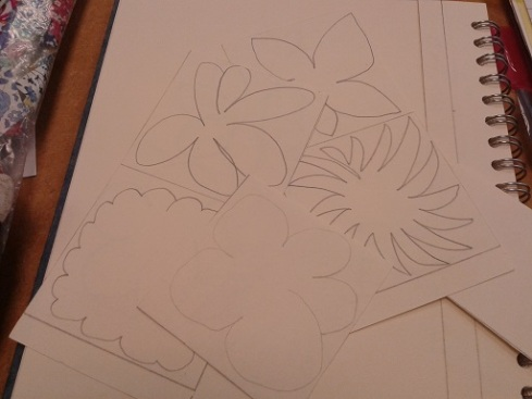 Quilt course - flower drawings