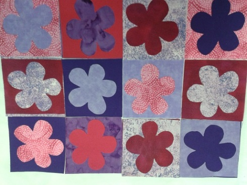 Quilt course - flower hanging