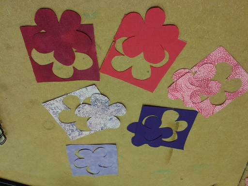 Quilt course - flowers cut out