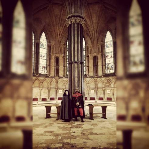 Alison at Lincoln - Luke and the Chapter House