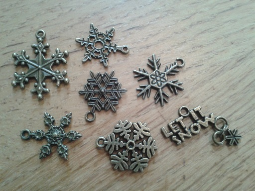 charms- snowflakes
