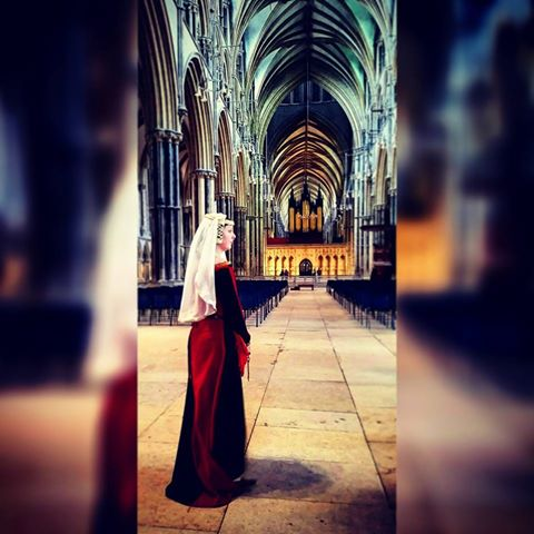 Ellie in Lincoln Cathedral