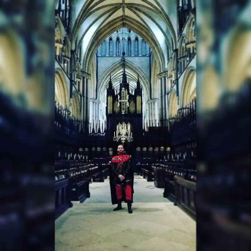 Luke in Lincoln Cathedral