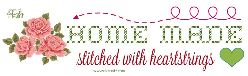 ELEFANTZ homemade stitched with heartstrings button