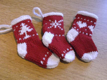 Knitted xmas stockings