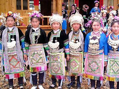 Miao Chinese Folk Costume