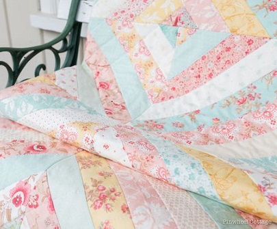 Printemps Quilt - Pinwheel Cottage