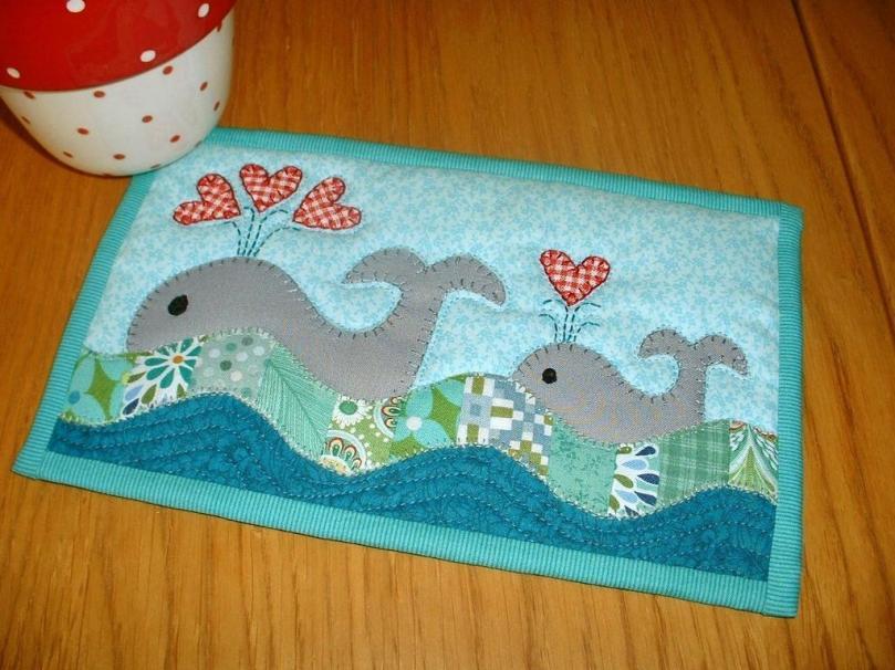 Patchsmith Whale mug rug