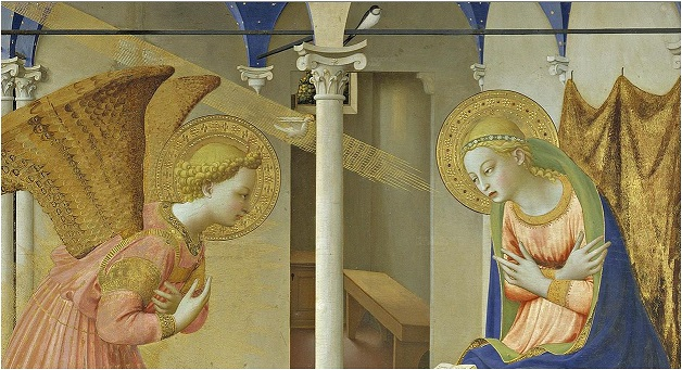 Prado - Annunciation 2 detail