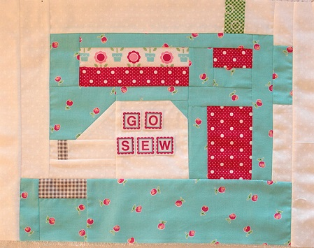 Snapshots sewing machine - Flicker Pam Kitty Morning small
