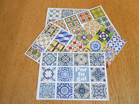 Lisbon -tile postcards 1