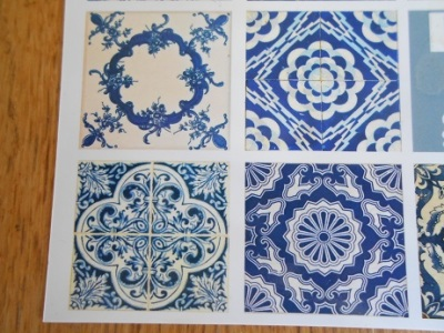 Lisbon - tile postcards 2
