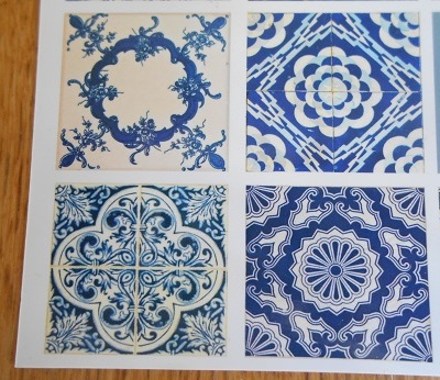 Lisbon - tile postcards 2