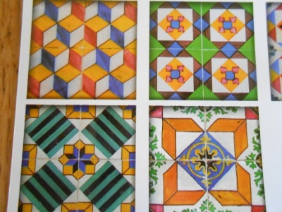 Lisbon - tile postcards 4