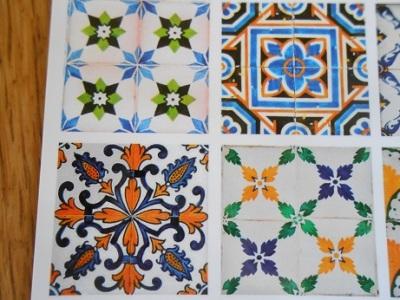 Lisbon - tile postcards 5
