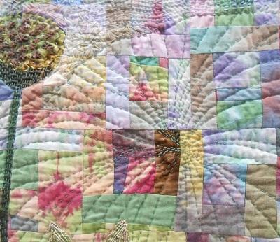 Quilt Festival Rainbow flower 4