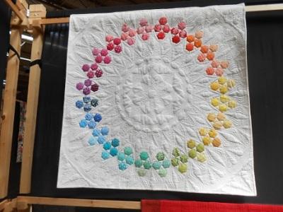 Quilt Festival rainbow hex 1