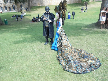 Steam Punk 2016 Peacock dress 1