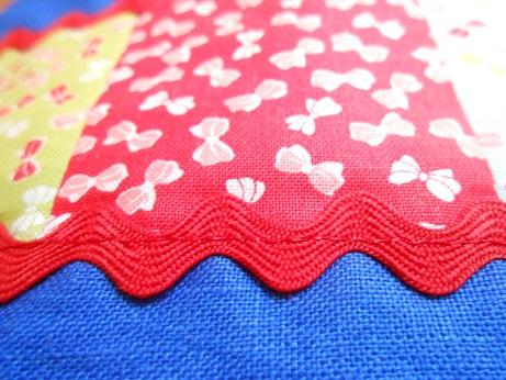 Blue linen pouch 3