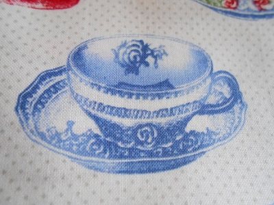 Tea cup theme fabric 2