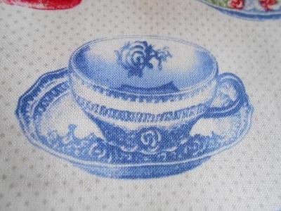 Tea cup theme fabric 2
