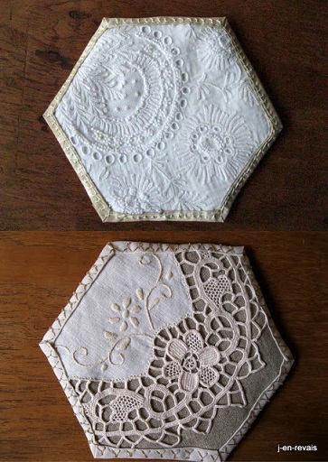Vintage hexagons