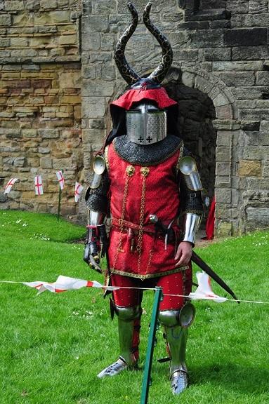 Ashby Luke in full armour - small