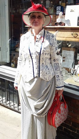 Steampunk sewing fabric dress 1