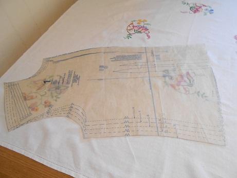 Steampunk linen jacket 8 layout
