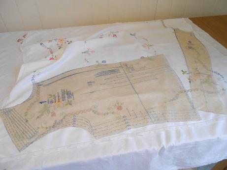 Steampunk linen jacket 9 layout