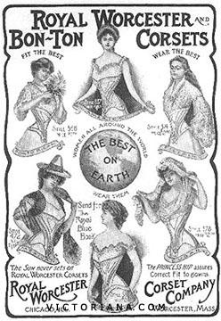 Victorian corset ad