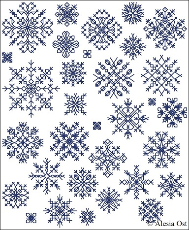 Cross stitch snowflakes 1
