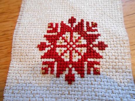 Nov - Xmas stitching 3