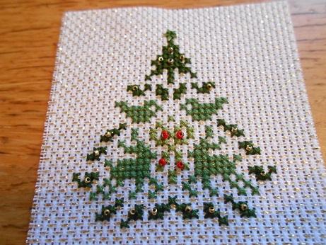 Nov - Xmas stitching 4