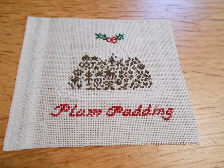 Plum Pudding Cross Stitch 1