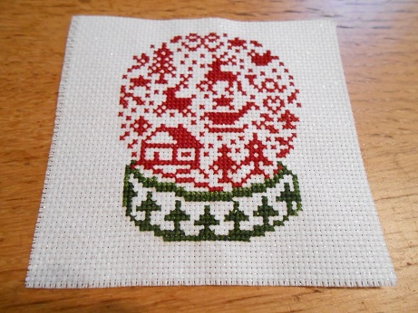 Snow Globe Cross Stitch 1