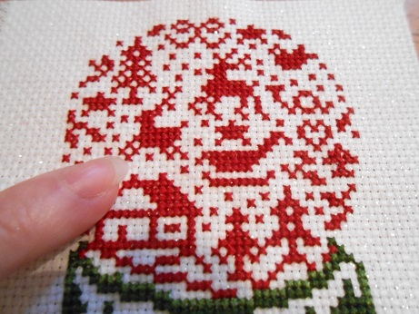 Snow Globe Cross Stitch 3