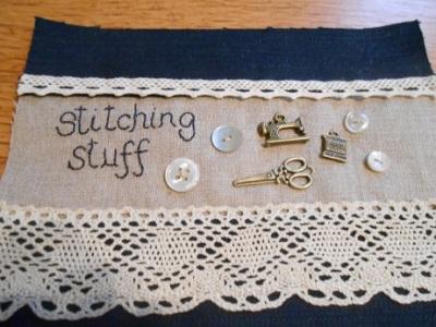 Stitching stuff bag WIP 2