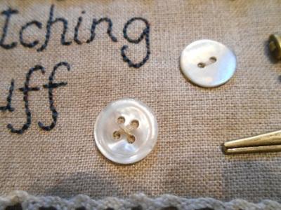 Stitching stuff bag WIP 4