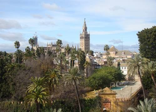 Seville trip hotel-alcazar-view