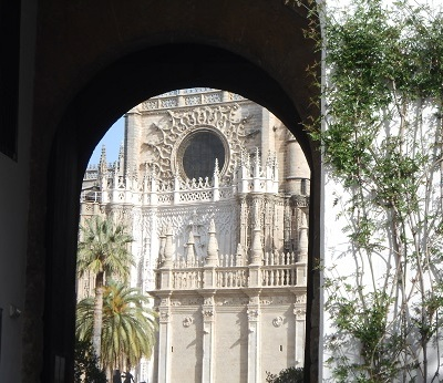 Seville Alcazar cathedral view